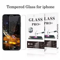 gehärtetes glas für samsung galaxy on7 groihandel-Für iPhone X 8 7 6 6S 5s Hartglas Displayschutzfolie für iPhone XR XS max Displayschutzfolie klar mit 9H Härte