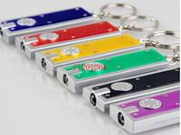 Wholesale flashing keyrings - 100pcs lot DHL Free Shipping Mini LED Camping Keyring Flash Light Torch Keychain Lamp Key Chain R02