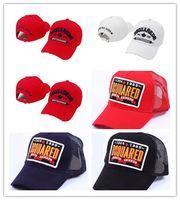 бейсбольные штаты оптовых-Хорошая мода dsqse Уроп и США новая внешняя торговля хлопок бейсболка вышивка теннисная кепка Кепка 3 цвета