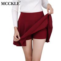 Wholesale Animal Empire - MCCKLE S-5XL Women's All Fit Tutu School Short Skirt Pants 2017 Summer 6 Colors Mini Saia High Waist Faldas Mujer Short Feminino