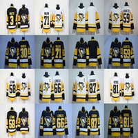 Jerseys Baratos Crosby Baratos-2017-2018 Temporada 87 Sidney Crosby 81 Phil Kessel 71 Evgeni Malkin 66 Mario Lemieux 30 Matt Murray Pittsburgh Penguins Hockey Jerseys Barato