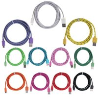 Wholesale Iphone 3m New - new 1m 3ft 2M 6ft 3M 10ft New Type-C Micro USB Braided Charger Cable Knit Fabric Braided Woven harger Cable Nylon Woven for samsung S7 S8