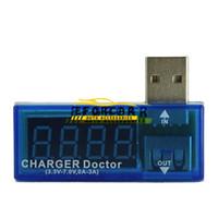 Wholesale car battery meter tester resale online - USB Voltage Current Meter Tester USB Power Current Voltage Meter Tester Car Charger Doctor Mobile Battery Detector Brand New
