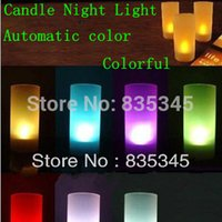 -10 gros Pcs Voix Candles Colorful Night Light Halloween Thanksgiving Noël anniversaire meilleur cadeau coloré Transform Livraison gratuite