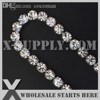 Gros- (5yards / lot) 888A Crystal Silver SS28 Chain 6mm Monocristal Row strass Coupe PROCHE, X11-128-01S