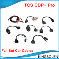 Wholesale Hot Audi Cars - Hot selling cdp full set 8 car cables cdp+ car cables delphi (for audi cable open cables PSA 30PIN Cable) Free Shipping