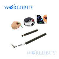 Wholesale Iphone 4s Mobilephone - Wholesale-High Sensitive Aluminium Metal Stylus Touch Pen for iPhone 5 4S 4 iPad iPad 2 Other Mobilephone etc Free Shipping UPS DHL HKPAM