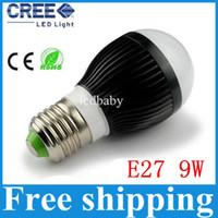 ingrosso bulbi base b22-AC85-265V 9w 3X3W E27 E14 B22 GU10 tipo base bulbo a bolle di bolle a LED caldo / freddo