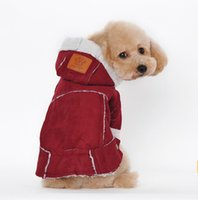 Wholesale Style Dog Clothes - Suede Pet Dog Clothes Fashion Style Clothing Dog Winter Clothes Coat Jackets for pet dog winter free shipping
