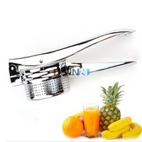 Wholesale Vegetable Juice Maker - Fruit Juice Maker For Vegetables Potato Lemon Watermelon Creative Hand Held Stainless steel Kitchen Tools 1PCS