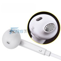 Wholesale Mic Integrated - S6 S6 EDGE earbuds HEADSET WHITE integrated microphone Stereo Earphones with mic volume control For Galaxy S4 S5 S6 Note 4 with box