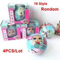 4 Pz / lotto Lol Surprise Dolls Dress Up Toys Disimballaggio Dolls Surprise Eggs With Different Function Per Girls Sisters Series 1/2
