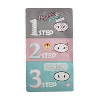 Wholesale Clear Nose Pores - 1500pcs Holika Pig Nose Clear Black Head Perfect Sticker 3 steps Clear Black Head Mask Blackhead Remover