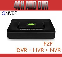 Wholesale D1 Cctv Camera - 4CH Hybird AHDL DVR CCTV DVR Full D1 960H 720P DVR NVR HVR 3 in 1 support Onvif HDMI P2P For AHD, IP & Analog Camera
