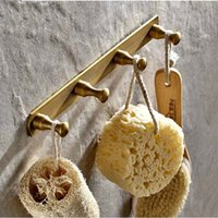 Wholesale Towel Bathroom Hooks Antique - Free Shipping Wholesale And Retail Antique Brass Wall Mounted Bathroom Towel Hooks 4 Pegs Coat Hat Hangers Solid Brass