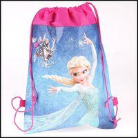 Wholesale Drawstring Backpack Kids Bags Handbags - Frozen drawstring bags cosplay kids bag handbag Enderman High quality Storage bags environmental packs Wallets backpacks handbags