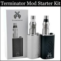 Wholesale Feeder Kits - Terminator Mod Starter Kit Mech Mod 18650 Battery Box Mod Aluminum Bottom feeder mod vs subox mini box mods Angles&Demons Anubis Mod Kits
