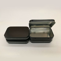Barato Contentores De Peças Grossistas-Rectangle Tin Box Black Metal Container Tin Boxes Candy Jewelry Parts Storage Boxes Gift Packaging Atacado ZA5147