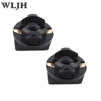Wholesale bulb cluster - WLJH T10 quot Universal Double Contact Instrument Panel Cluster Light Socket T10 W5W Twist Lock Wedge Bases