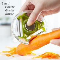 Wholesale Novelty Vegetables - 12 pcs Lot 3 in 1 Peeler Grater Slicer Cooking tools vegetable potato cutter Kitchen utensils gadgets Novelty household 5102 , dandys