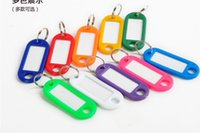 Wholesale Wholesale Plastic Name Tags - Plastic Key Tags Keychain Key Mark Card Luggage Label Tags ID Label Split Key Ring Name Key Tags Card Marking