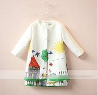 Wholesale Kids Pocket Dress - Girl Set Girls Clothes Kids Clothing Sets 2016 Spring Children Outfit House Cartoon Long Sleeve Cardigan + Dress Child Tops Kid Outfit K6590