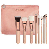 ZOV 8Pcs Kit pennelli trucco Blending professionale Eyeline Ombretto Brush Set Powder Foundation Bellezza Strumenti Cosmetici + borsa spedizione gratuita