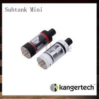 sub tank mini rba al por mayor-Kanger Subtank Mini Atomizer Kangertech Subtank Mini RBA Clearomizer Subox Mini Atomizador OCC RDA Sub ohm Tanque 100% Original