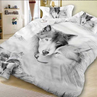 Barato Marca Impresso Cama Conjunto-Manyun Brand Cotton Bedding Sets 4 pcs Bedding Comforter Set Duvet Covers 3D Wolf impressão Folha de cama Wholesale Queen Home Textiles