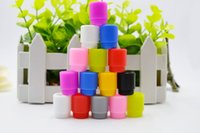 Wholesale e cig testing - Wholesale 810 silicone drip tips Disposable Colorful Silicon E-cig testing caps rubber test mouthpiece For 810 tank atomizer DHL Free