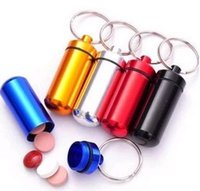 A caixa do comprimido Micro boa qualidade Cache Container Geocache Geocaching anéis chave Keychain 500pcs BS10 titular vial 1119 # 19