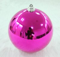 Wholesale Large Christmas Ball Ornaments - 2015 Christmas Tree Large Balls Decorations Christmas Ball Gift Party Wedding Ornament decoracion navidad adornos Free Shipping