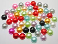 Wholesale Flat Backed Pearls - 100 Half Pearl Bead 12mm Flat Back Scrapbook Craft