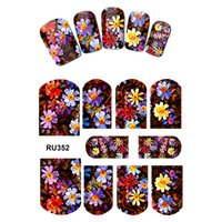 10PCS / LOT NAIL ART BELLEZZA STICKER STICKER FIORE IMPIANTO TROPICALE ANTHURIUM PALM TREE FOGLIA MARGHERITA VIOLA ORCHIDEA RU352-360