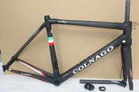 Wholesale Carbon Bike Frame 48 - 2017 HOT SALE 18 colors colnago C60 carbon road frames carbon frame 46 48 50 52 54 56cm T1000 carbon bike frames