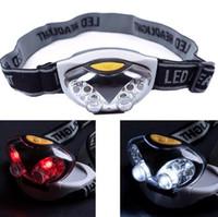 Wholesale cycle bulbs - 6 LED bulbs Headlamp Owl Fishing Head Light with 4 white led bulbs 2 Red Led Bulb Headlamps for Cycling Camping Headlamp KKA3413