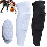 Wholesale Basketball Leg Gear - high quality Short Leg Knee Protector Gear Hot Kids Adult Pad Basketball Leg Knee Long Sleeve Protector Gear Crashproof