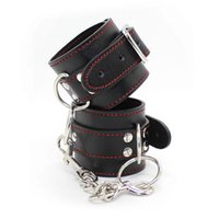 Wholesale Cheap Sex Toys For Couples - w1031 new 2015 Cheap Hot Genuine leather Sexy hand cuffs for sex products toys for women men couples adults games