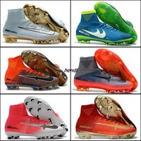 High Top Mens Kids Youth Soccer Shoes Mercurial Superfly V SX Neymar FG Botas de futebol Cr7 Boys Women Kid Sports Soccer Cleats Shoes Boots