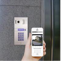 sistema de câmera de porta sem fio venda por atacado-Sistema de intercomunicador de vídeo Global Home Security 2.4G Sem Fio Vídeo Porteiro Intercom Wifi Campainha Câmera