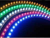 Pvc Led Strip Light Green Pas Cher-Car Truck LED Strip Lights Light DIY flexible PVC Blanc / Jaune / Vert / Rouge / Bleu 24cm 24LED 48cm 48LEDs 72CM 72 LED 96CM 96 LED 120CM