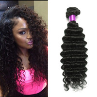 Wholesale Wave Hair Sold Bundles - Brazilian Deep Wave Virgin Hair Brazilian Hair Bundles 4pcs lot100% Curly Virgin Hair Factory Selling Cheap Deep Wave Curly Weave Online