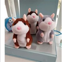 Wholesale Dolls Speak - Talking Hamster Plush Toy Christmas gift Cute 15cm Anime Doll Toys Kawaii Speak Talking Sound Record Hamster Kids Gifts