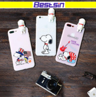 Wholesale Iphone Slicone Cases - Cartoon Snoopy Phone case for Iphone 8 High Quality Slicone Gel phone case for Iphone 7 iphone x free shipping