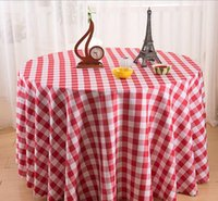Wholesale Waterproof Restaurant Tablecloths - Hot hotel tablecloth restaurant garden dyed plaid round table square tablecloth tablecloth picnic cloth table cloth custom