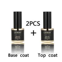 Wholesale Only Polish - Wholesale-For Metallic Gloss only base coat top coat UV gel polish Soak-off nail Polish Long-lasting Nail Art 8ml For primer gel nail