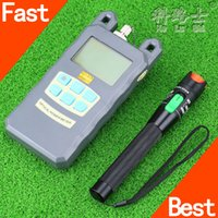Wholesale Power Cable Fault - Wholesale-Hot sale Optical Fiber Power Meter -70dBm~+10 dBm Fiber Optic Power And 30mW 20KM Visual Fault Locator Fiber Optic Cable Tester