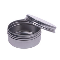 Wholesale wholesale container lip online - 5 ml Empty Aluminium Cosmetic Containers Pot Lip Balm Jar Tin For Cream Ointment Hand Cream Packaging Box