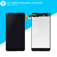 Wholesale microsoft screens - Wholesale-Original LCD For NOKIA Microsoft Lumia 640 Touch Screen Display Digitizer Replacement Parts 107471
