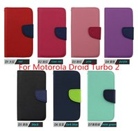 Wholesale Wholesale Droid Covers - For Motorola X3 Droid Turbo 2 FORCE Luxury PU Leather flip phone case cover inside with credit card slots